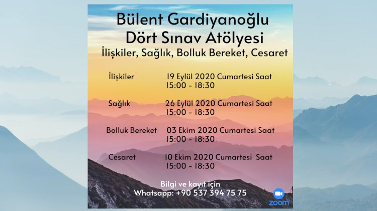 Bülent Gardiyanoğlu -Dört Sınav Atölyesi